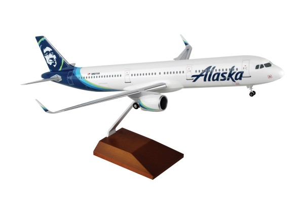 Airbus A321neo Alaska Airlines Scale 1/100 w/Gear