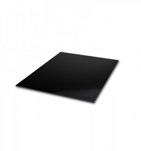 cover plate in aluminium compound material - black