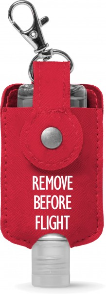 "Sanitizer holder Key chain ""Remove Before Flight"" for 50ml"