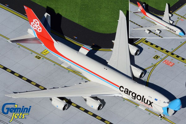 "Boeing 747-8F Cargolux ""Not Without My Mask"" LX-VCF Scale 1/400"