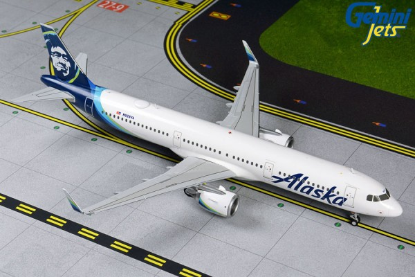 Airbus A321neo Alaska Airlines Scale 1/200