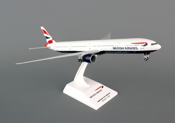 Boeing 777-300ER British Airways Scale 1/200 w/G