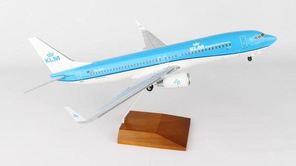 Boeing 737-800 KLM Scale 1/100 w/Gear