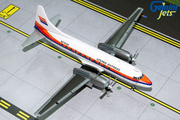Convair CV-580 United Express N73126 Scale 1/200