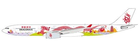 """Airbus A330-300 Dragonair """"20th Anniversary"""" B-HWG Scale 1/400"""