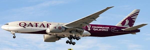 "Boeing 777-200LR Qatar Airways ""World Cup Livery"" A7-BBI Scale 1/400"