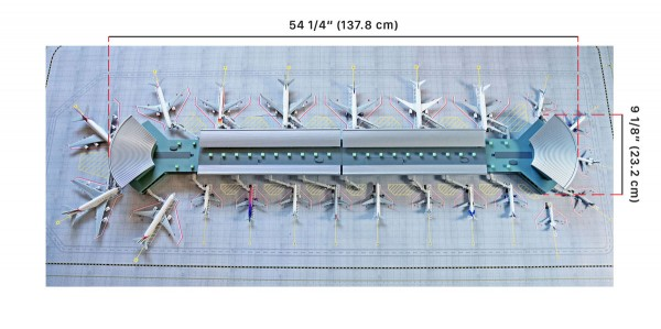 Deluxe Airport Mat GeminiJets Scale 1/400