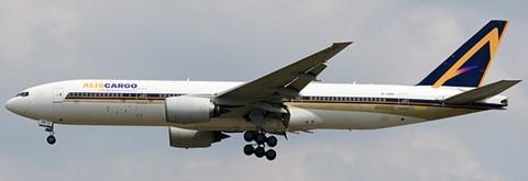 Boeing 777-200ER AlisCargo Airlines Flaps Down Version EI-GWB Scale 1/400 #