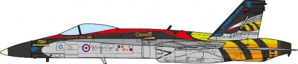CF188A Super Hornet Royal Canadian Air Force, 410 'Cougars' Tactical Fighter Squadron Scale 1/72