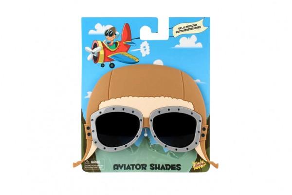 Sonnnebrille im Flieger Look / Sunglasses as Aviator Cap Mask