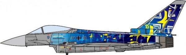 Eurofighter EF2000 Typhoon Deutsche Luftwaffe, TaktLwG 73, 60th Anniversary Edition, 2019 Scale 1/72