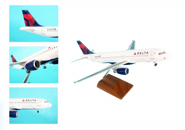 Airbus A320 Delta Airlines Scale 1/100 w/Gear