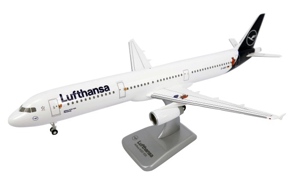 """Airbus A321-100 Lufthansa New Livery """"Mouse & Elephant"""" D-AIRY Scale 1:200 w/G"""