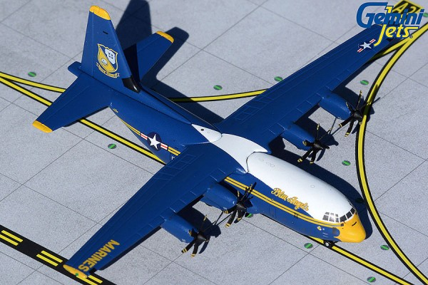 """Lockheed C-130J Hercules U.S. Marine Corps """"Blue Angels new livery"""" Scale 1/400"""