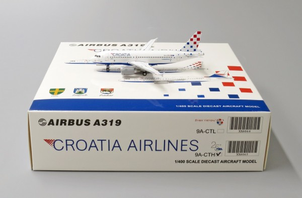 """Airbus A319 Croatia Airlines """"25th Anniversary Livery"""" 9A-CTH Scale 1/400"""