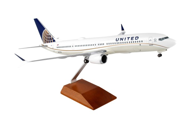 Boeing 737-MAX9 United Airlines Scale 1/100 w/Gear