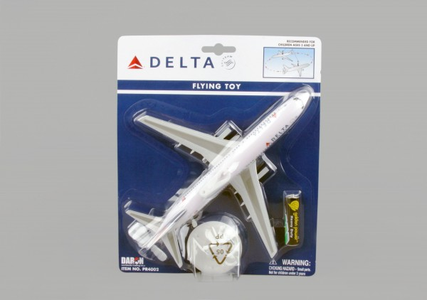 Delta Flying Airplane on a string