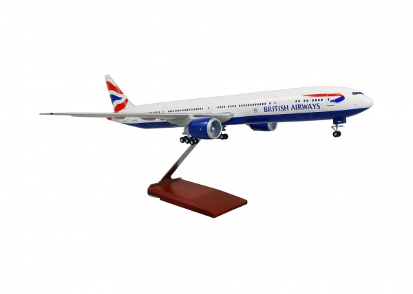Boeing 777-300ER British Airways Scale 1/100 w/Gear