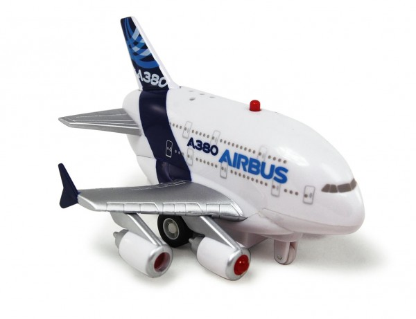 Airbus A380 House Color Pull back plane w/Light & Sound