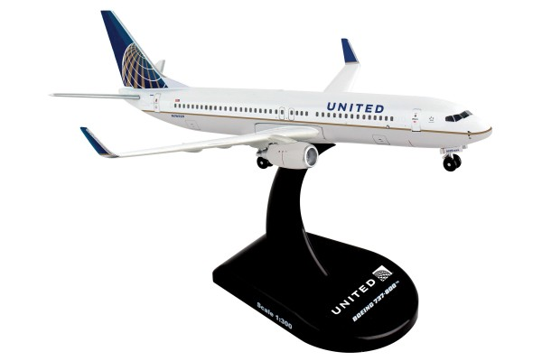 POSTAGE STAMP Boeing 737-800 United Airlines Scale 1/300