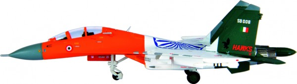 "Sukhoi Su-30MK-I IAF,24th Squadron ""Hunting Hawks"" SB008 Scale 1/200"