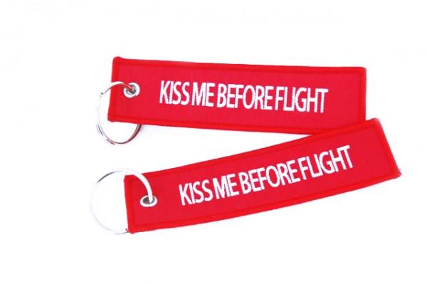 Key ring - KISS ME BEFORE FLIGHT