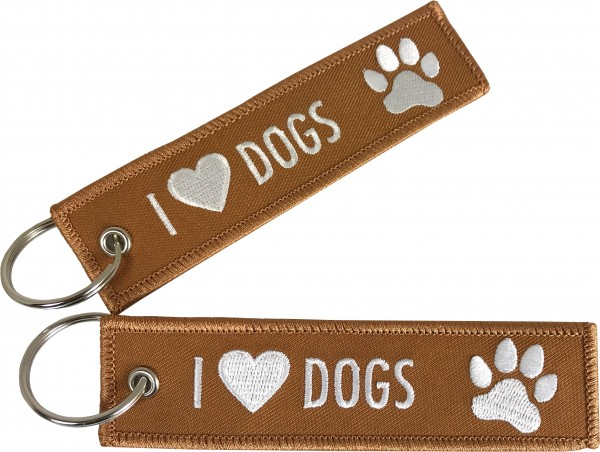Key ring - I Love Dogs 125 x 30 mm