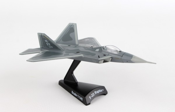 POSTAGE STAMP Lockheed Martin F-22 Raptor USAF Scale 1/145