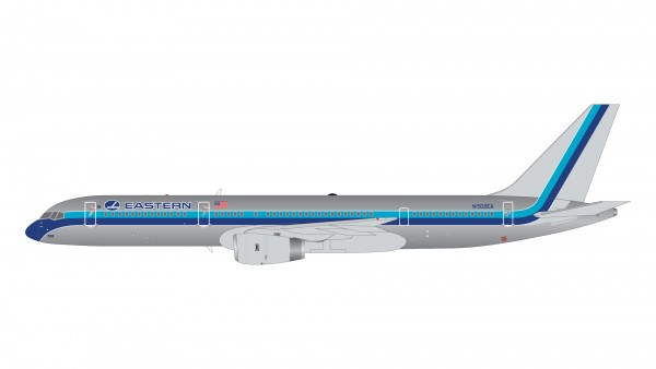 """Boeing 757-200 Eastern Air Lines """"polished 1980s livery"""" N502EA Scale 1/200"""