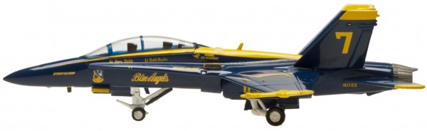 McDonnell Douglas F/A-18B Hornet Blue Angels (Twin seat) Tail no. 7 Scale 1/200