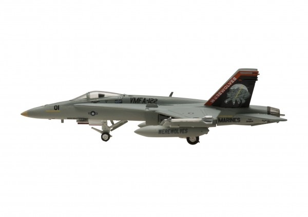 "McDonnell Douglas F/A-18C Hornet US Marines VMFA-122 ""Werewolves"" Scale 1/200"