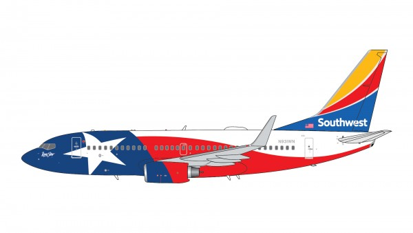 """Boeing 737-700 Southwest Airlines """"Lone Star One"""" N931WN Scale 1/400"""