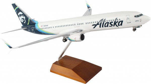 Boeing 737-900 Alaska Airlines New Livery 2016 Scale 1/100 w/Gear