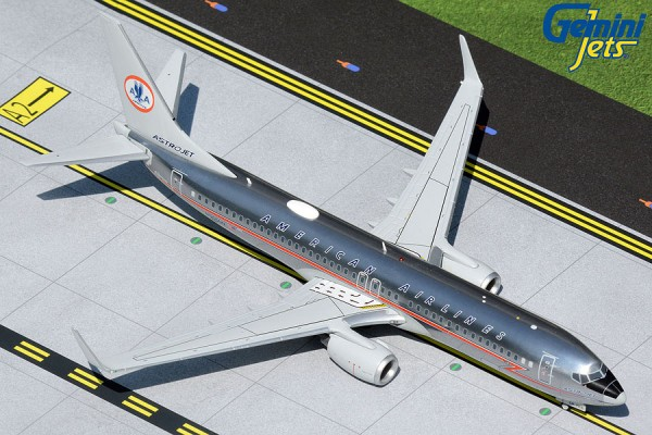 """Boeing 737-800 American Airlines polished """"Astrojet"""" livery N905NN Scale 1/200"""