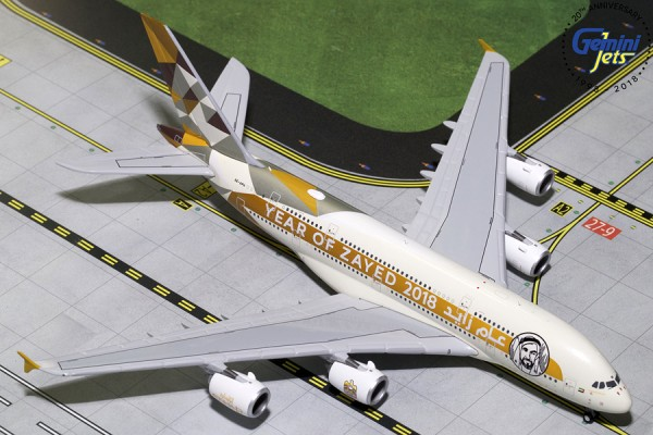 """Airbus A380-800 Etihad Airways """"Year of Zayed"""" Scale 1/400"""