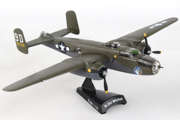 POSTAGE STAMP North American B-25J Mitchell Briefing Time Scale 1/100