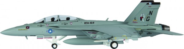 """McDonnell Douglas F/A-18F Hornet US Navy VFA-154 """"Black Knights"""" Scale 1/200"""