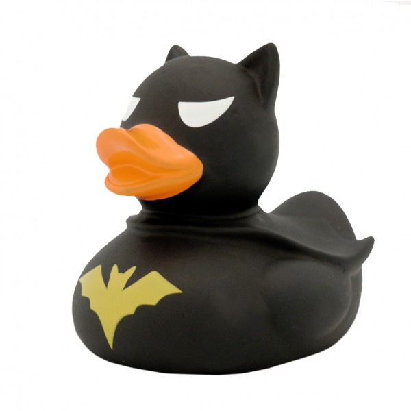 "Quietsche-Ente ""Batman"" schwarz / Rubber duck ""Batman"" black"