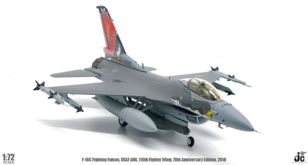 General Dynamics F16C Fighting Falcon USAF, US Air Force, ANG, 115th Fighter Wing Scale 1/72