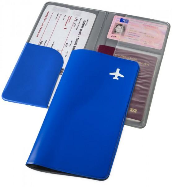 Reisebrieftasche Voyage blau / Travel Wallet Voyage blue