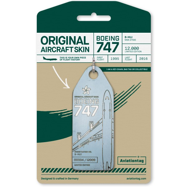 Aviationtag Boeing B747 - blue (Cathay Pacific)