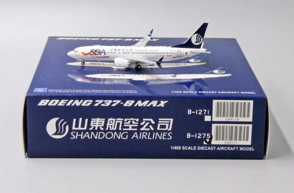 "Boeing 737-MAX8 Shangdong Airlines ""Guomei Livery"" B-1275 Scale 1/400"