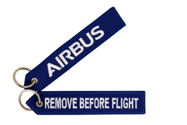 Key ring - Airbus blue Large size: 160 x 30 mm