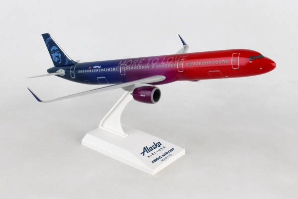 """Airbus A321neo Alaska Airlines """"More to Love"""" Scale 1/150"""