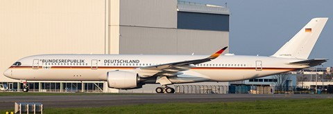Airbus A350-900ACJ Germany Air Force 10+01 Flaps Down Version Scale 1/400