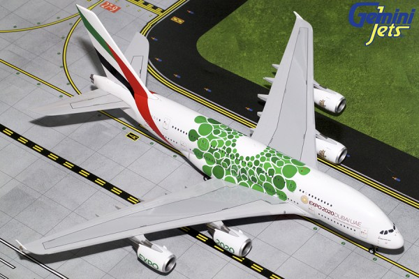 """Airbus A380-800 Emirates """"Green Expo 2020"""" Scale 1/200"""