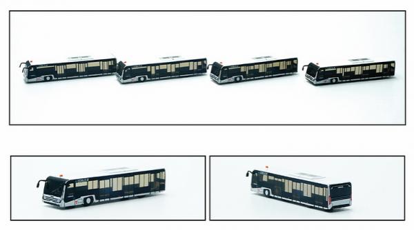 Airport Bus Set of 4 (e.CobusL) Scale 1/400