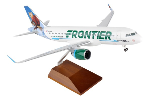 "Airbus A320neo Frontier Airlines ""Scout the Pine Marten"" Scale 1/100 w/Gear"