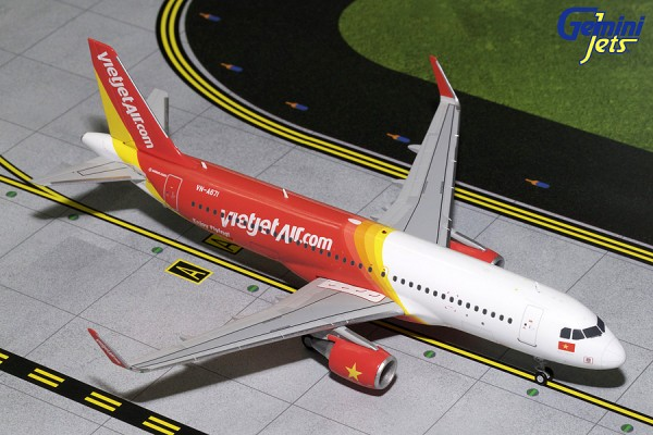 Airbus A320-200S Vietjet Air VN-A671 Scale 1/200
