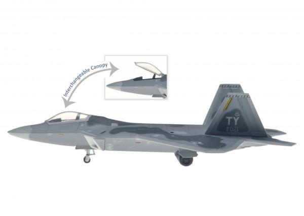 Lockheed Martin F-22A Raptor USAF, 43rd FS, 325th FW, Tyndall AFB, FL Scale 1/200 +++